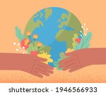 human saving planet earth... | Shutterstock .eps vector #1946566933