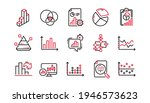 charts and graphs line icons....   Shutterstock .eps vector #1946573623