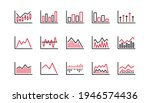 charts and graphs line icons....   Shutterstock .eps vector #1946574436