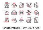 voting line icons. public...   Shutterstock .eps vector #1946575726