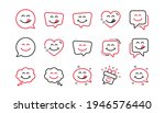 yummy smile line icons....   Shutterstock .eps vector #1946576440