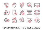 seo line icons. website stats ...   Shutterstock .eps vector #1946576539