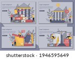set of flatline style designs... | Shutterstock .eps vector #1946595649