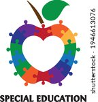 special education. colorful... | Shutterstock .eps vector #1946613076