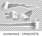 curled ripped paper.... | Shutterstock .eps vector #1946614576