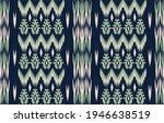 blue ethnic abstract ikat art....   Shutterstock .eps vector #1946638519