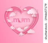 mother postcard with paper...   Shutterstock .eps vector #1946657179