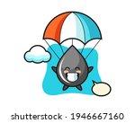 Oil Drop Mascot Cartoon Is...