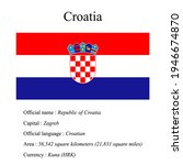croatia national flag  country...   Shutterstock .eps vector #1946674870