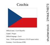 czech national flag  country's...   Shutterstock .eps vector #1946674873