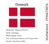 denmark national flag  country...   Shutterstock .eps vector #1946674876