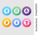 set of colored icons for...