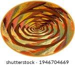 oval mat  carpet  rug  tapestry ... | Shutterstock .eps vector #1946704669