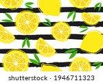 fresh  tropical fruits  lemon...   Shutterstock .eps vector #1946711323