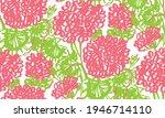 decorative hand drawn geranium...   Shutterstock .eps vector #1946714110