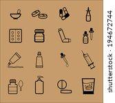 medicine drug pharmacy dosage...   Shutterstock .eps vector #194672744