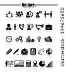 business icons  management and... | Shutterstock .eps vector #194673650