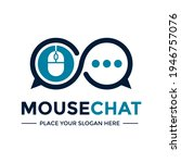 mouse chat vector logo template.... | Shutterstock .eps vector #1946757076