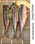 baked grilled mackerel | Shutterstock . vector #194675999