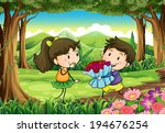 illustration of a couple dating ... | Shutterstock . vector #194676254