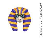 blue eyed cartoon sphynx cat... | Shutterstock .eps vector #1946766649