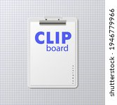 clipboard stationery template.... | Shutterstock .eps vector #1946779966