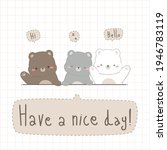 cute adorable teddy bear and... | Shutterstock .eps vector #1946783119