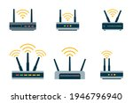 Router Flat Icon. Vector Router....