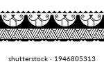 maori polynesian tattoo... | Shutterstock .eps vector #1946805313