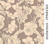 elegant floral wallpaper  ... | Shutterstock . vector #194681363