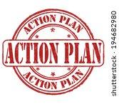 action plan grunge rubber stamp ... | Shutterstock .eps vector #194682980