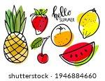 summer seasonal fruit set.... | Shutterstock .eps vector #1946884660