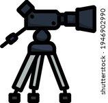 movie camera icon. editable...