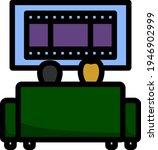 cinema sofa icon. editable bold ...