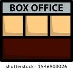 box office icon. editable bold...
