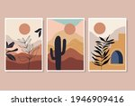 abstract landscape posters ... | Shutterstock .eps vector #1946909416