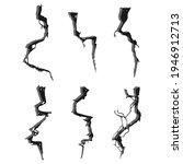 earth crack vector set isolated ...   Shutterstock .eps vector #1946912713