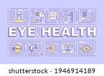 eye health word concepts banner....