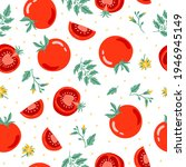 red tomato seamless pattern... | Shutterstock .eps vector #1946945149