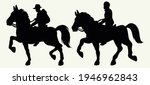 men riding horses black... | Shutterstock .eps vector #1946962843