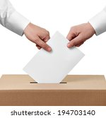 close up of  a ballot box and... | Shutterstock . vector #194703140