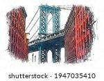 Manhattan Bridge Between Two...