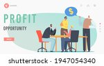 profit opportunity landing page ...   Shutterstock .eps vector #1947054340