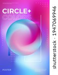 blurred gradient poster design. ... | Shutterstock .eps vector #1947069946