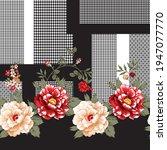 seamless flower border pattern... | Shutterstock .eps vector #1947077770