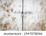 Metal Door With Lock Texture...