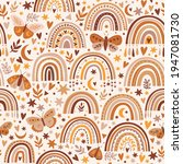 seamless pattern with celestial ...   Shutterstock .eps vector #1947081730