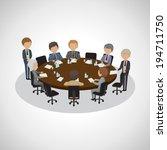 business people having meeting  ... | Shutterstock .eps vector #194711750
