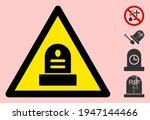 vector cemetery flat warning... | Shutterstock .eps vector #1947144466