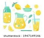 lemons  lemon wedges  lemon... | Shutterstock .eps vector #1947149146